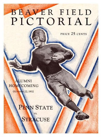 1932 Penn State Nittany Lions vs Syracuse Orange 30x40 Canvas Historic Football Print
