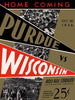 1936 Purdue Boilermakers vs Wisconsin Badgers 30x40 Canvas Historic Football Poster