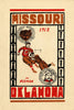 1912 Oklahoma Sooners vs Missouri Tigers 30x40 Canvas Historic Football Poster