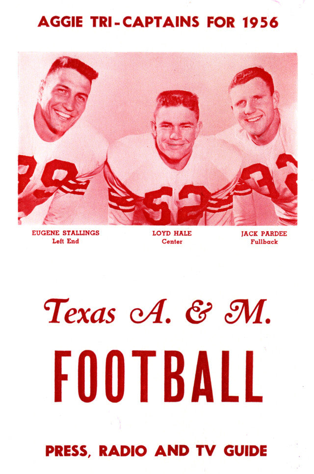 1956 Texas A&M Aggies 22x30 Canvas Historic Football Poster