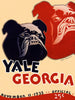 1933 Yale Bulldogs vs Georgia Bulldogs 22x30 Canvas Historic Football Poster