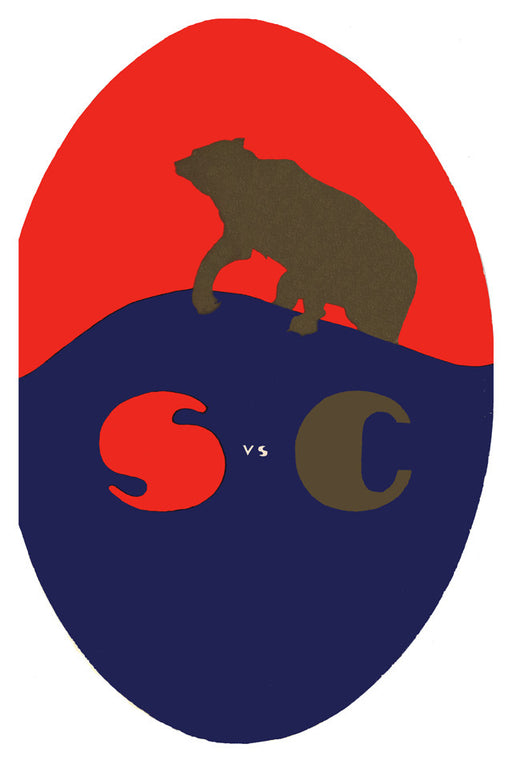 1920 California Bears vs Stanford Cardinal 22x30 Canvas Historic Football Poster