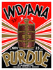 1935 Indiana Hoosiers vs Purdue Boilermakers 22x30 Canvas Historic Football Print