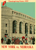 1927 Nebraska Cornhuskers vs NYU 30x40 Canvas Historic Football Poster