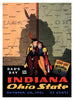 1936 Ohio State Buckeyes vs Indiana Hoosiers 30x40 Canvas Historic Football Print