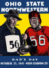 1941 Ohio State Buckeyes vs Northwestern Wildcats 30x40 Canvas Historic Football Poster