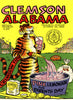 1969 Clemson Tigers vs Alabama Crimson Tide 22x30 Canvas Historic Football Poster