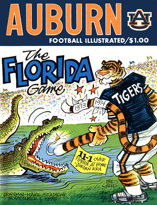 1975 Auburn Tigers vs Florida Gators 22x30 Canvas Historic Football Poster