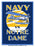 1929 Notre Dame Fighting Irish vs Navy Midshipmen 22x30 Canvas Historic Football Poster