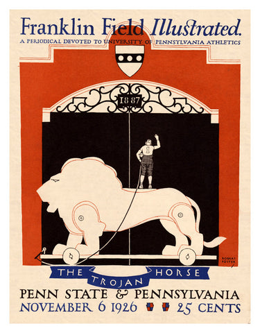 1926 Penn Quakers vs Penn State Nittany Lions 36x48 Canvas Historic Football Poster