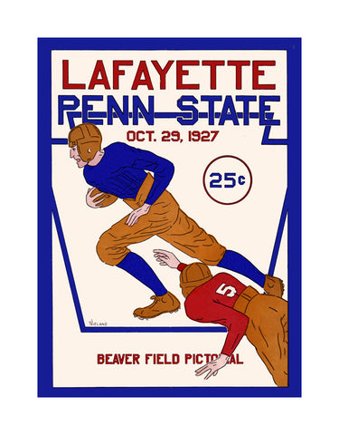 1927 Penn State Nittany Lions  36 x 48 Canvas Historic Football Poster