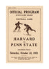 1921 Penn State Nittany Lions vs Harvard Crimson 36 x 48 Canvas Historic Football Poster