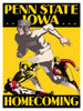 1930 Iowa Hawkeyes vs Penn State Nittany Lions 36x48 Canvas Historic Football Poster