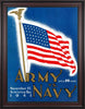 1941 Army Black Knights vs Navy Midshipmen 30 x 40 Framed Canvas Historic Football Poster