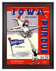 1944 Purdue Boilermakers vs Iowa Pre-Flight Seahawks 30 x 40 Framed Canvas Historic Football Poster