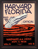 1929 Harvard Crimson vs Florida Gators 30 x 40 Framed Canvas Historic Football Poster