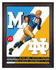 1942 Notre Dame Fighting Irish vs Michigan Wolverines 30 x 40 Framed Canvas Historic Football Poster