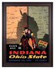 1936 Ohio State Buckeyes vs Indiana Hoosiers 30 x 40 Framed Canvas Historic Football Print