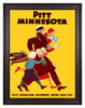 1934 Pittsburgh Panthers vs Minnesota Golden Gophers 30 x 40 Framed Canvas Historic Football Print