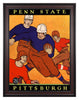 1927 Pittsburgh Panthers vs Penn State Nittany Lions 30 x 40 Framed Canvas Historic Football Poster