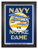 1929 Notre Dame Fighting Irish vs Navy Midshipmen 30 x 40 Framed Canvas Historic Football Poster