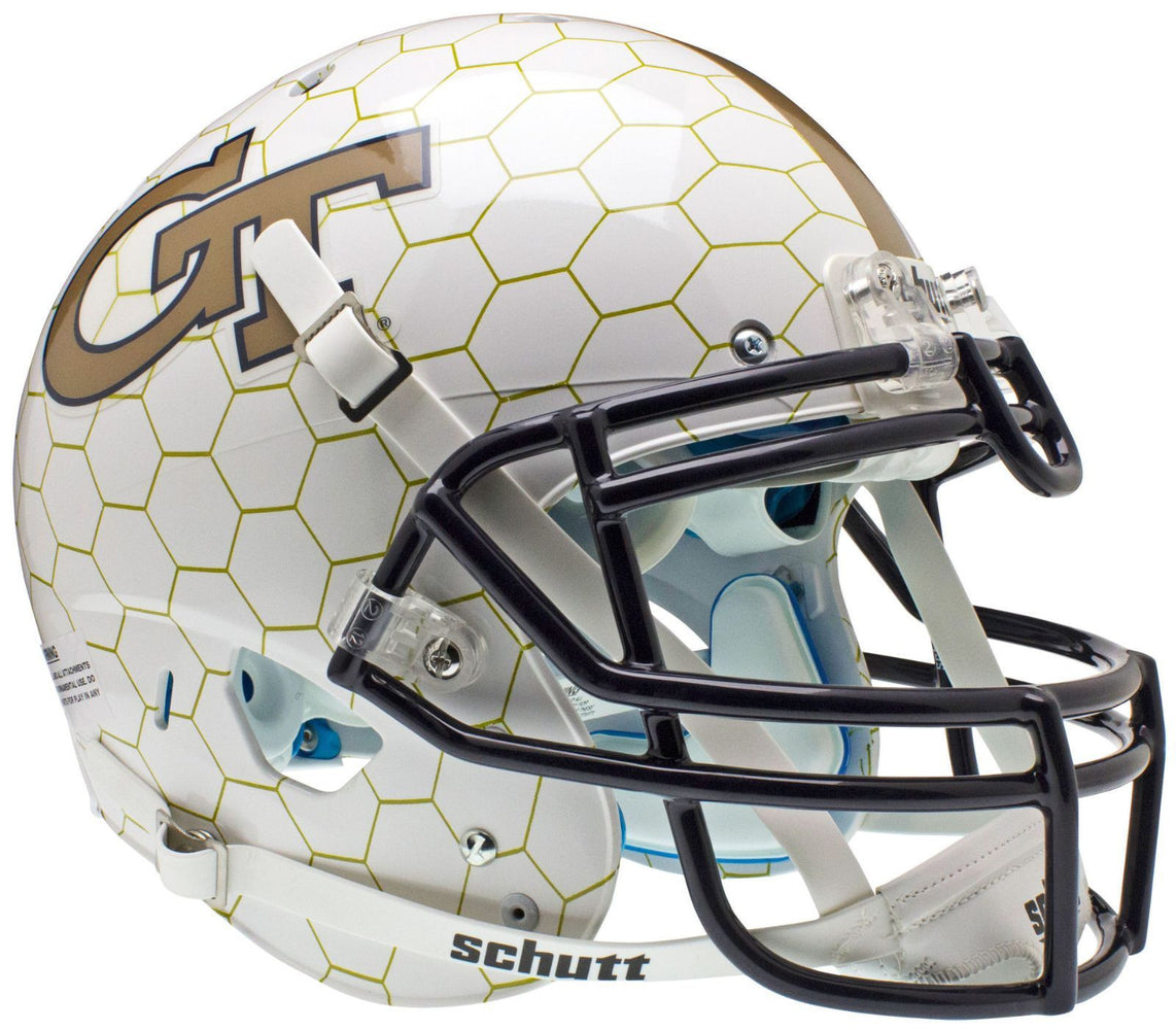 Georgia Tech Yellow Jackets Authentic Schutt XP Full Size Helmet - Honeycomb