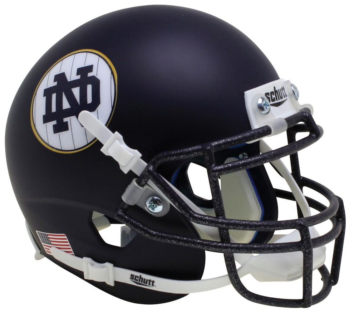 Notre Dame Fighting Irish Schutt XP Mini Helmet - Matte Navy