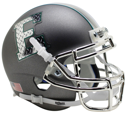 Eastern Michigan Eagles Schutt XP Mini Helmet - Silver with Chrome Mask