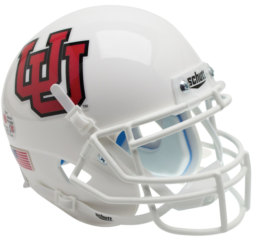 Utah Utes Authentic Schutt XP Full Size Helmet - White UU