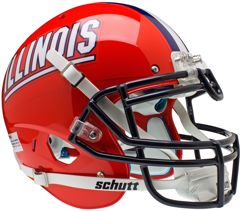 Illinois Fighting Illini Authentic Schutt XP Full Size Helmet