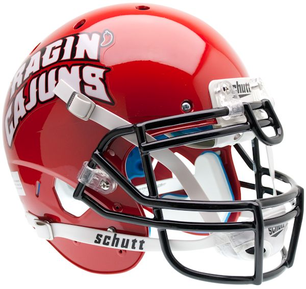 Louisiana Lafayette Ragin Cajuns Authentic Schutt XP Full Size Helmet