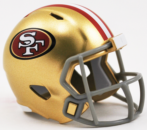 San Francisco 49ers Riddell Speed Pocket Pro Helmet