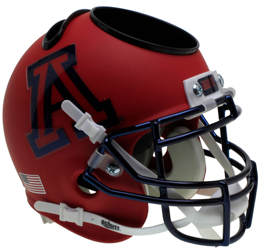 Arizona Wildcats Mini Helmet Desk Caddy - Matte Scarlet