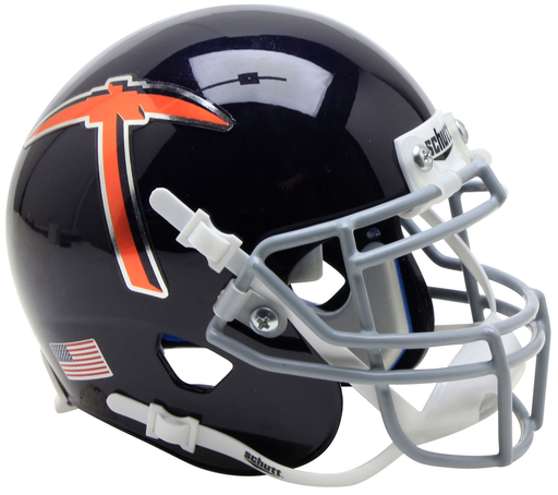 UTEP Miners Schutt XP Mini Helmet - Navy Blue With Pickaxe
