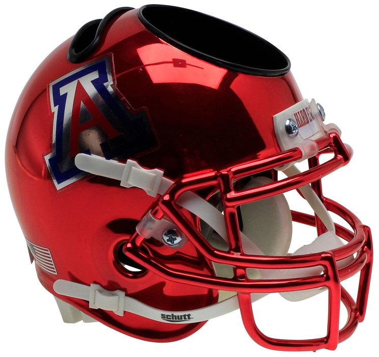Arizona Wildcats Mini Helmet Desk Caddy - Chrome