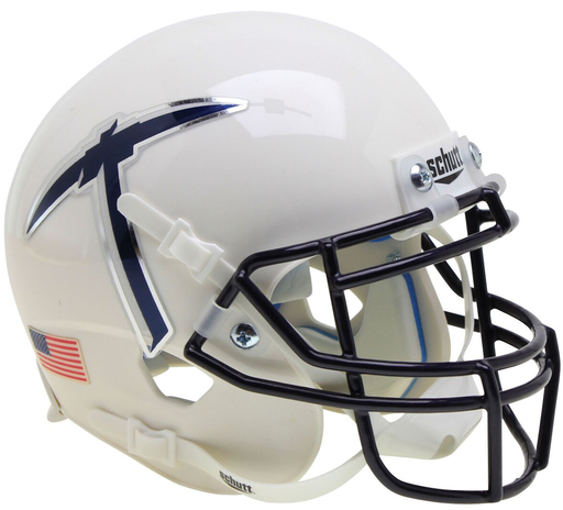 UTEP Miners Schutt XP Mini Helmet - White With Pickaxe
