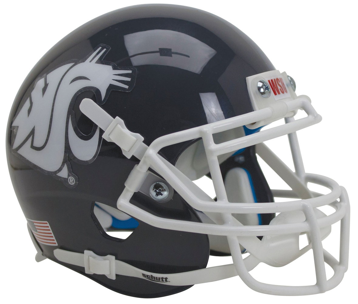 Washington State Cougars Schutt XP Mini Helmet - Matte Gray