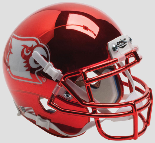 Louisville Cardinals Schutt XP Mini Helmet - Red Chrome