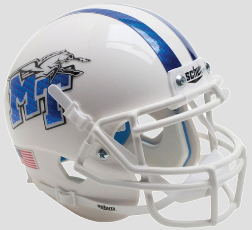 Middle Tennessee State Blue Raiders Schutt XP Mini Helmet - White with Half Stripe