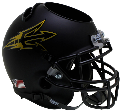 Arizona State Sun Devils Mini Helmet Desk Caddy - Matte Black Small Pitchfork