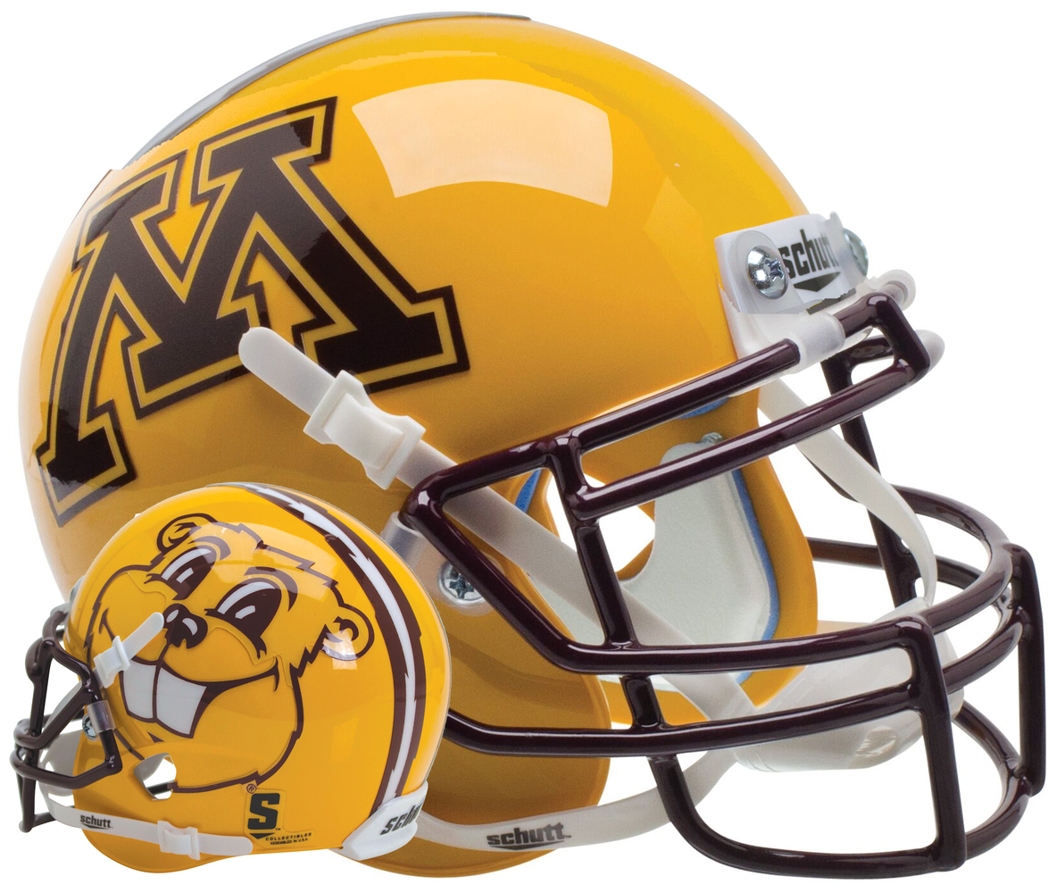 Minnesota Golden Gophers Schutt XP Mini Helmet - Goldy Gopher