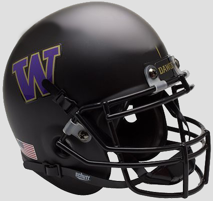 Washington Huskies Schutt XP Mini Helmet - Matte Black