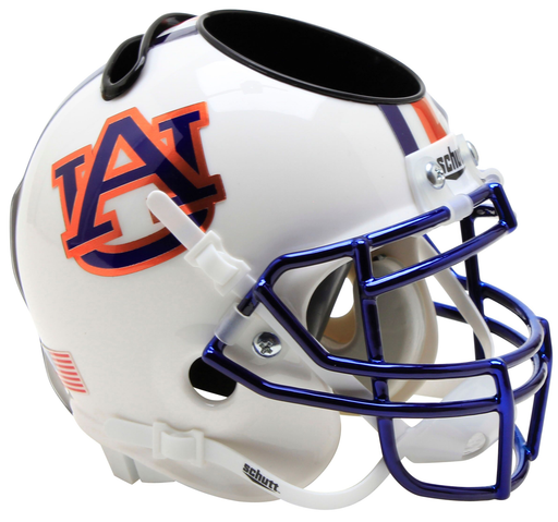 Auburn Tigers Mini Helmet Desk Caddy - Chrome Mask