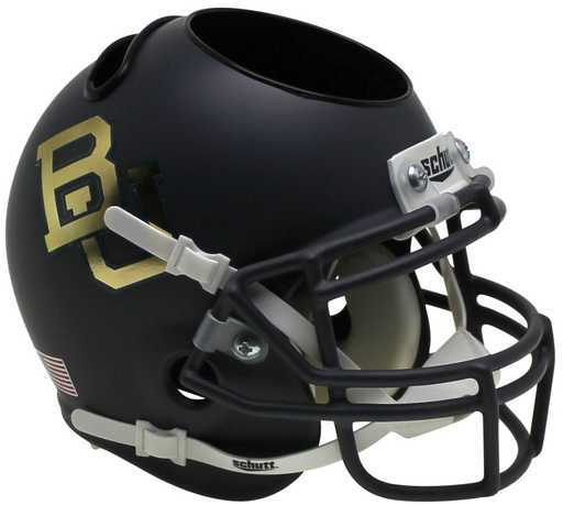 Baylor Bears Mini Helmet Desk Caddy - Matte Anthracite Chrome Decal