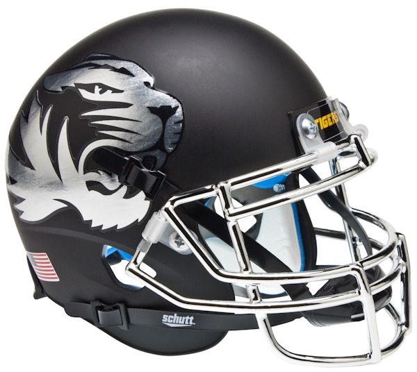 Missouri Tigers Schutt XP Mini Helmet - Chrome Mask