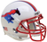 SMU Mustangs Schutt XP Mini Helmet - White With Chrome Red Mask