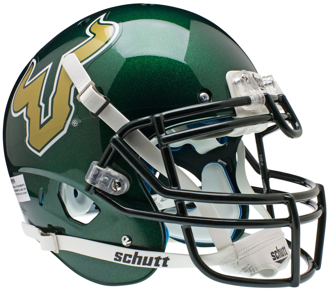 South Florida Bulls Authentic Schutt XP Full Size Helmet - Green