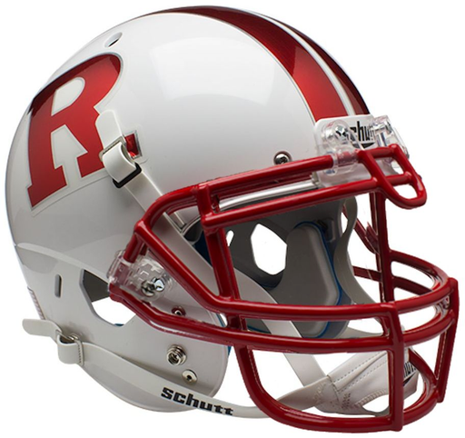 Rutgers Scarlet Knights Authentic Schutt XP Full Size Helmet - Chrome R