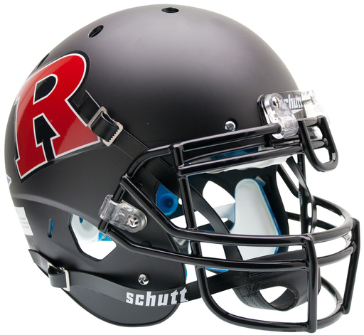 Rutgers Scarlet Knights Authentic Schutt XP Full Size Helmet - Matte Black - Red R