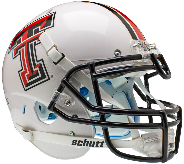 Texas Tech Red Raiders Authentic Schutt XP Full Size Helmet - White